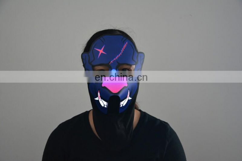 New Style Custom Unisex Led Light Up Party Mask, Led Glowing Mask
