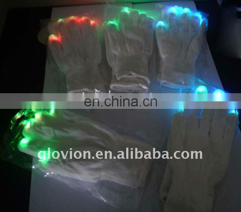 Best seller christmas led flashing light glove light show gloves for party LED Gloves Multicolor