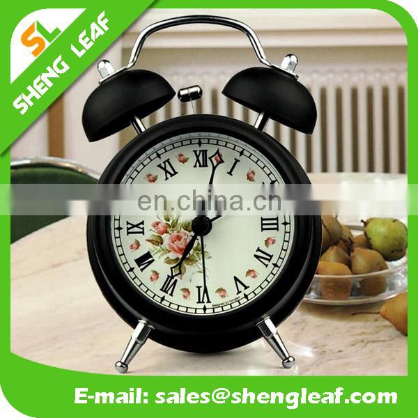Metal Promotional Twin Bell Alarm clock business desk clock