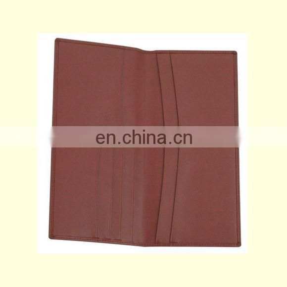 2015 PROMOTIONAL SALE CUSTOM LEATHER BROWN LONG WALLET
