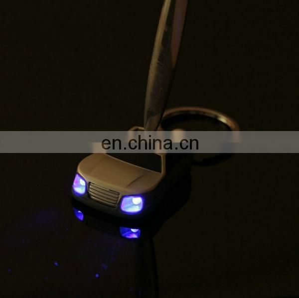 HOT PROMOTIONAL METAL CAR LED LAMP KEY CHAIN