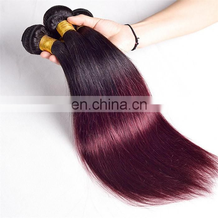 Hot sell two tone colored hair weave