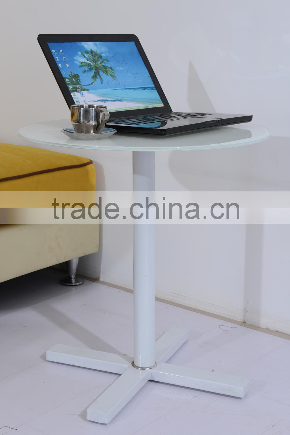 Modern glass top stainless steel base coffee tablePCT14124