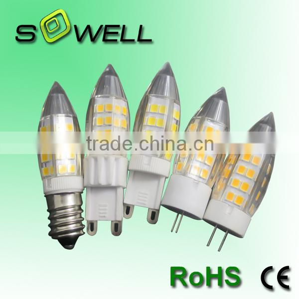 220-240V 4W Epistar 2835 18*60mm CE/RoHS ceramic G4 LED corn Bulb light                                                                         Quality Choice Image