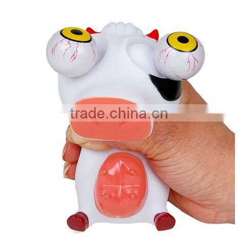 custom Soft Plastic Stress Reliever big iPop Out Eyes animal cow toys,Soft Plastic Stress Reliever Pop eye Out animal toys