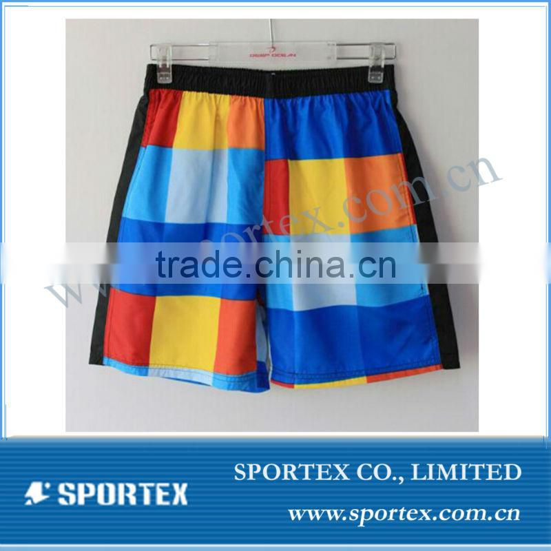 red swimshort for mens custom with high quality, mens sports shorts