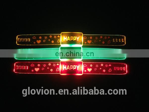 Fashion flashing wristband silicone rubber wristband child wristband