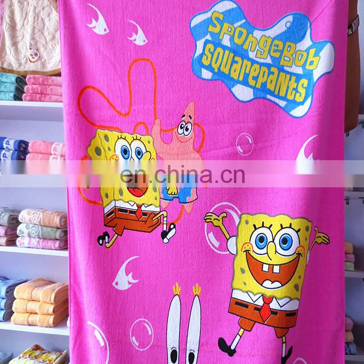 China factory High Quality Cute designs 100% Cotton Printed Beach Towel