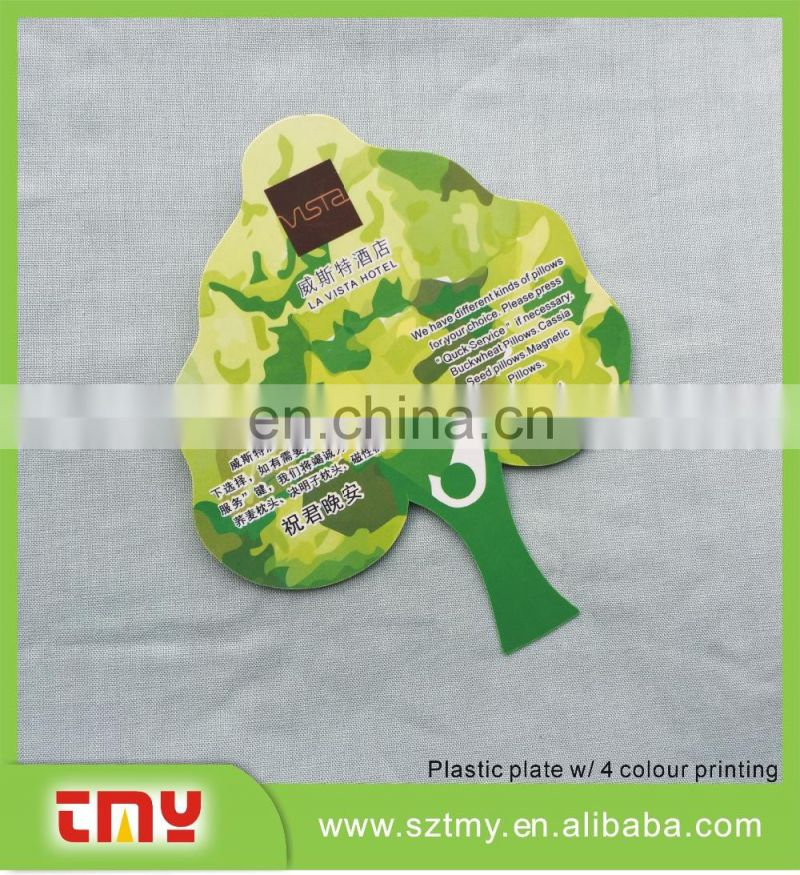 Full color printing leaf shape plastic PVC gift tag