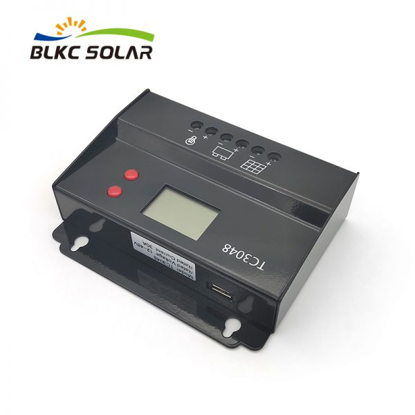 PWM Solar Charge Controller 30A with LCD and USB for 12V 24V 48V Battery Image