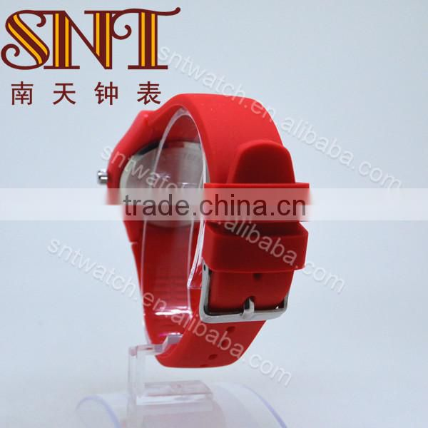 Simple style silicone watch for children