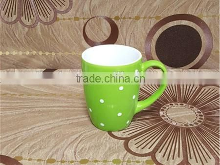 10 oz blue glazed belly shape hand painting ceramic mug