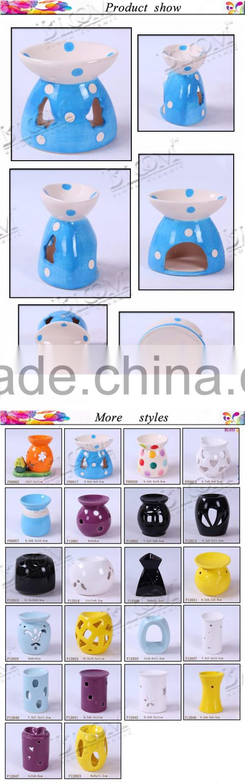 Novelty handmade decoration ceramic oil burner
