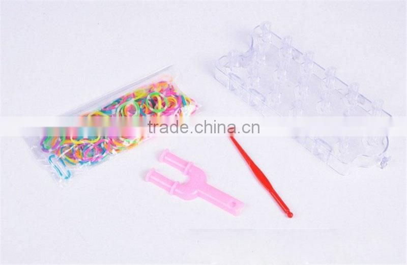 Hot Sales crazy wholesale rainnbow weaving diy loom bands sets