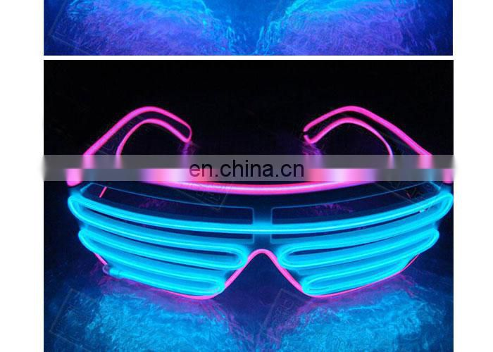 el equalizer glasses light up glowing good quality shutter party el wire Glasses