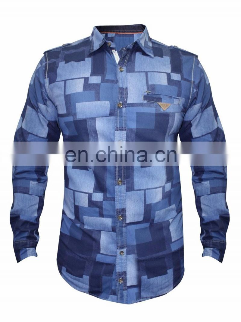 Mid Blue Casual Shirt