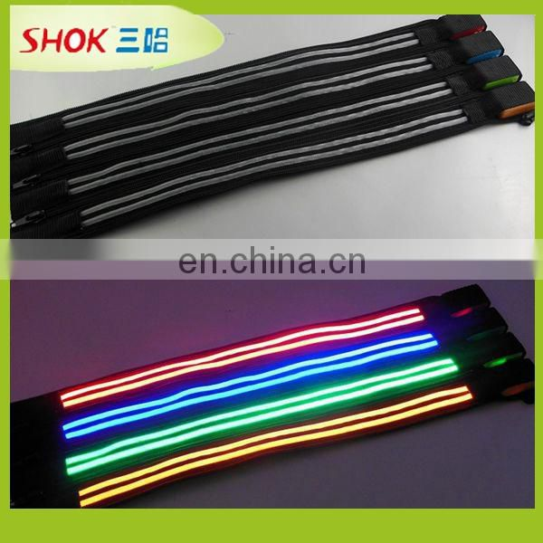 2015 hotsale flashing nylon led light zipper slider China supplier