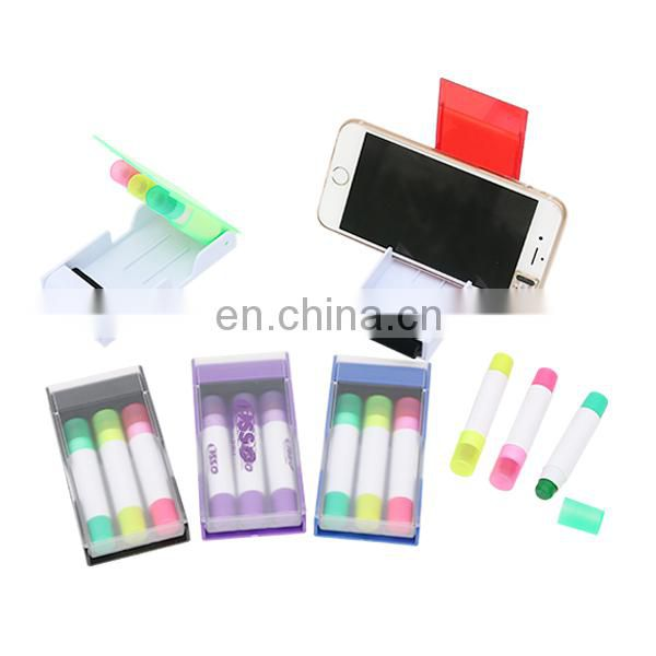 new multi highlighter 3 in 1 mobile phone bracket fixer highlighter set