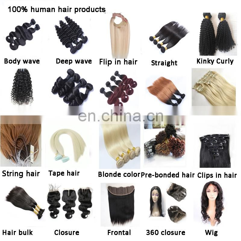 Short length ombre color hair extension bundles