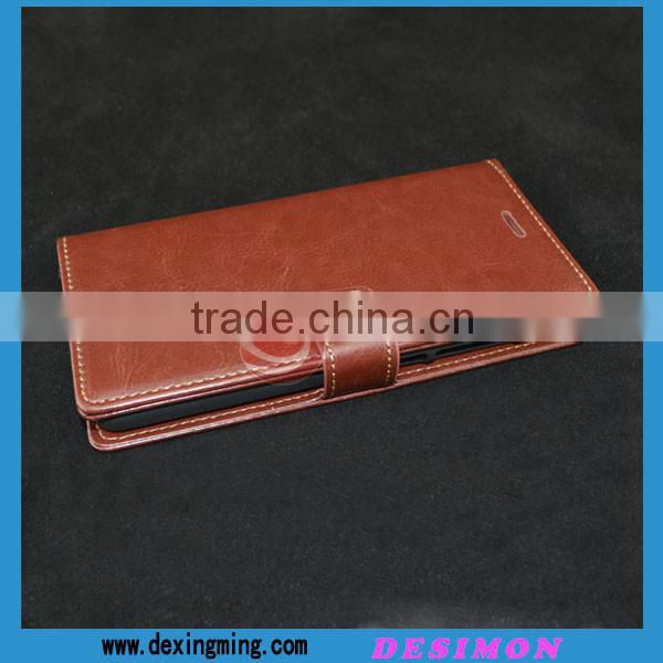 Hot Selling leather flip cover case for xiaomi redmi note