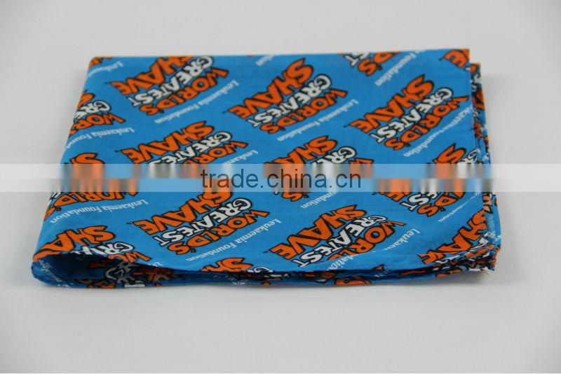 customized square high quality cotton bandana