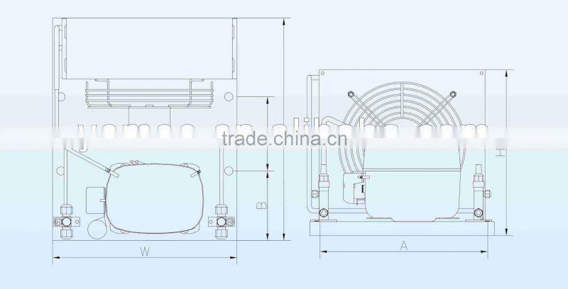 Danfoss compressor condensing unit R22 R134a R404a R507a for