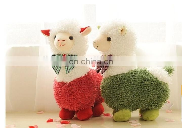 Cute Alpaca Plush Toy Camel Cream Llama Stuffed Animal Kids Doll