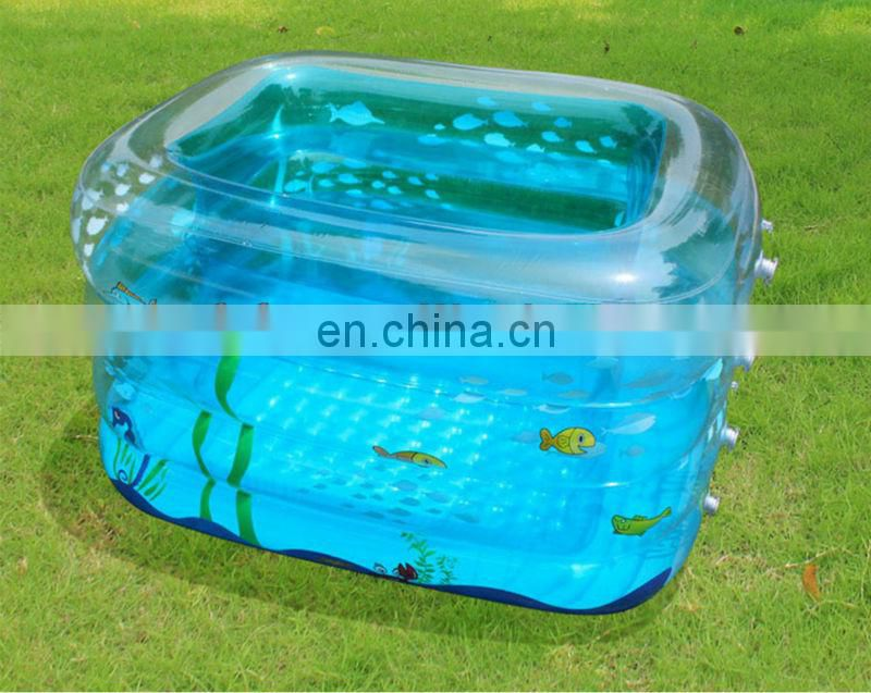 inflatable four-layer swimming bathtub
