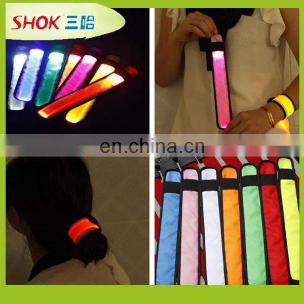 Night luminous identification wrist band,Fiber optic light arm band