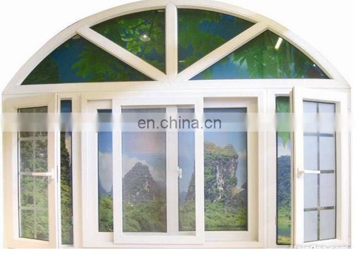 New design Customized Size CE certificate upvc white conch profile single/doubel glazed glass french casement window