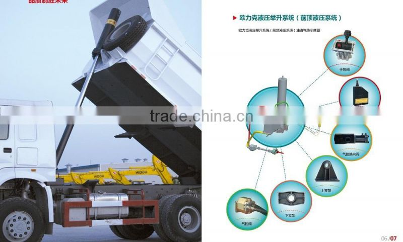 multistages steel dump truck tipper hydraulic jack