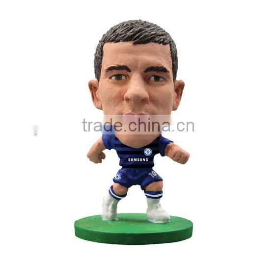 Custom football player toy Suarez figure,OEM plastic football player dolls,Custom plastic football player toy doll