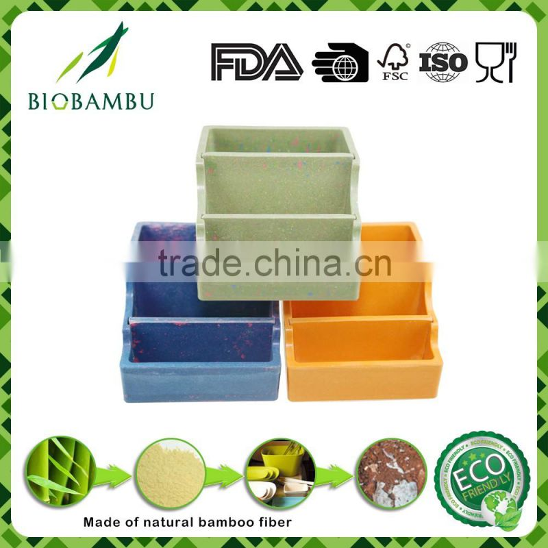 Factory directly provide green lifestyle pretty design bamboo pen container