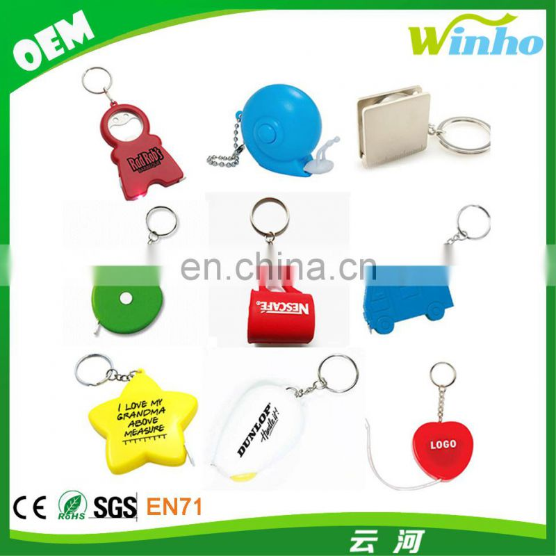 Winho aspire cute flower shape tape measure keychain