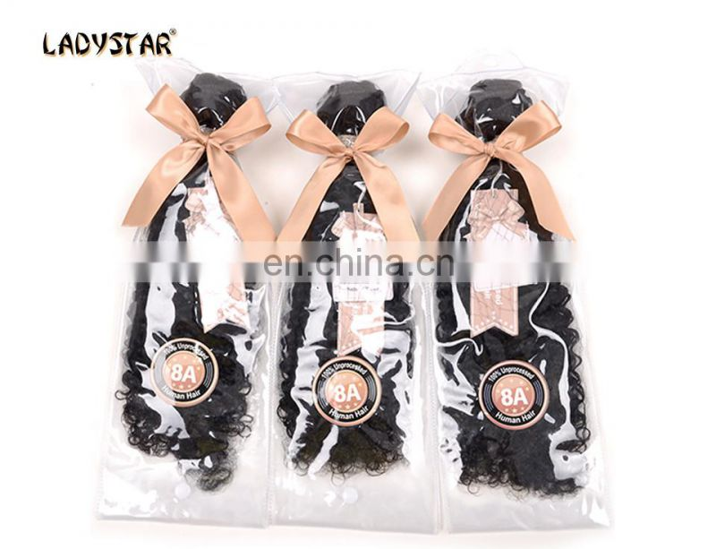 100% unprocessed natural kinky curly human hair weft can be dyed and bleached