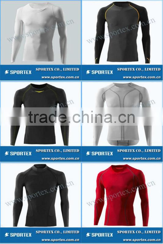 Comfortable body cut Sportex compression shirts, compression shirt, running top OEM#OM1304