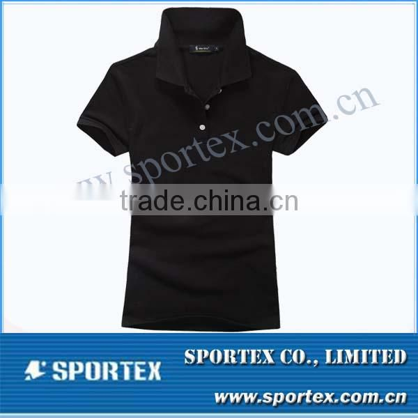 cotton women's Polo shirt / Golf shirt for ladies