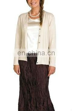 winter thermal 100% silk cadigan for women