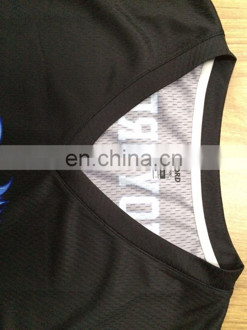 2017 best sublimation 100% polyester custom logo basketball jersey uniform design color blue