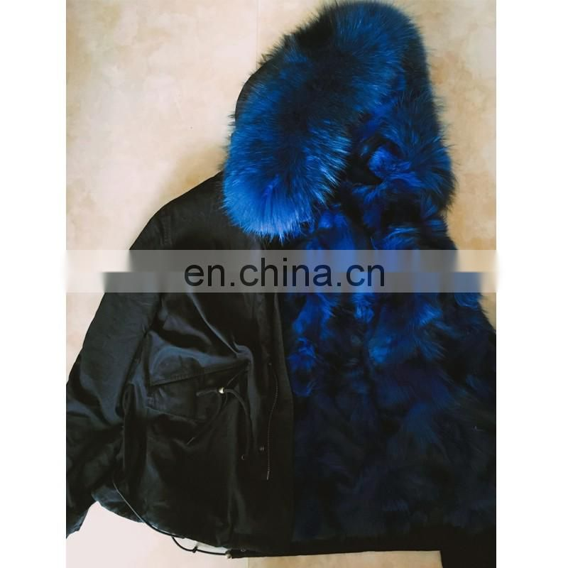 2016 newest real fox fur parka for women brand military winter parka