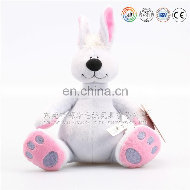 animal shape soft toy embroidery white stuffed plush bunny toy