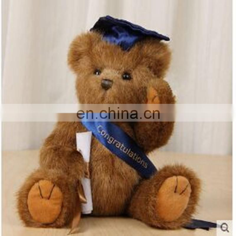 promotional customized stuffed plush BOYDS Teddy bear toy with red hat