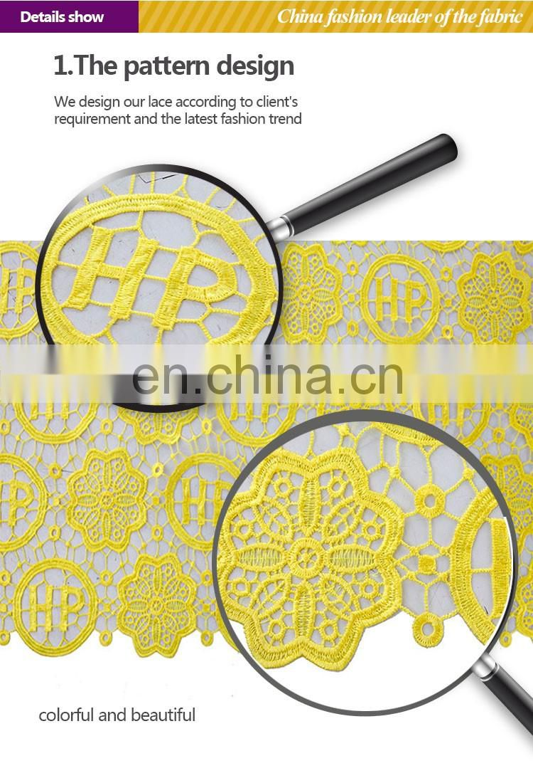 2015 yellow cord lace in polyester