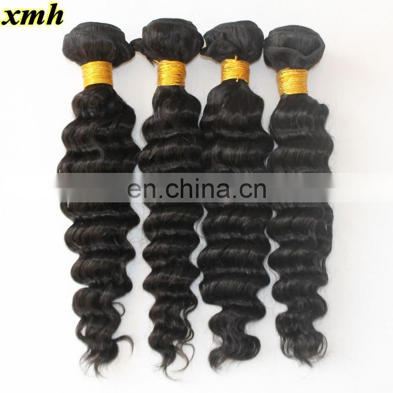 "Malaysian Deep Wave Malaysian Curly Virgin Hair 9A Virgin Human Hair Bundles 8""-30"" Malaysian Hair Weft"