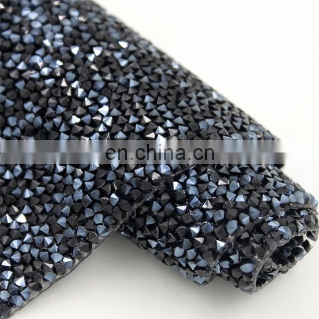 Wholesale crystal Sheet Rolls Hotfix Pointback Rhinestone mesh Sheet for shoes bags clothing