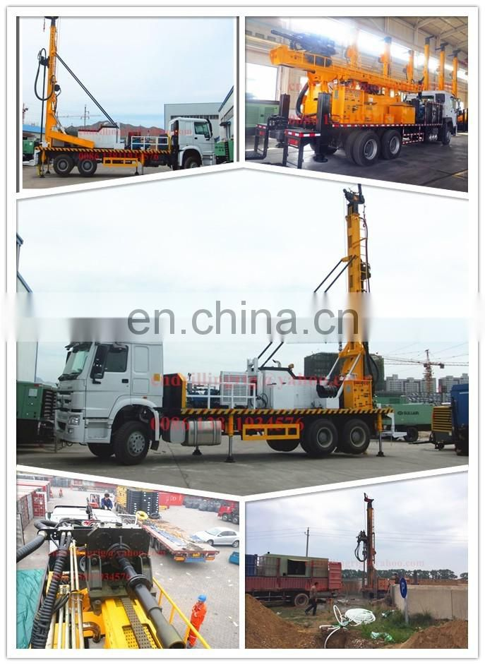 400m Truck mounted water borehole drilling rig can drilling on hard rock and soft formation