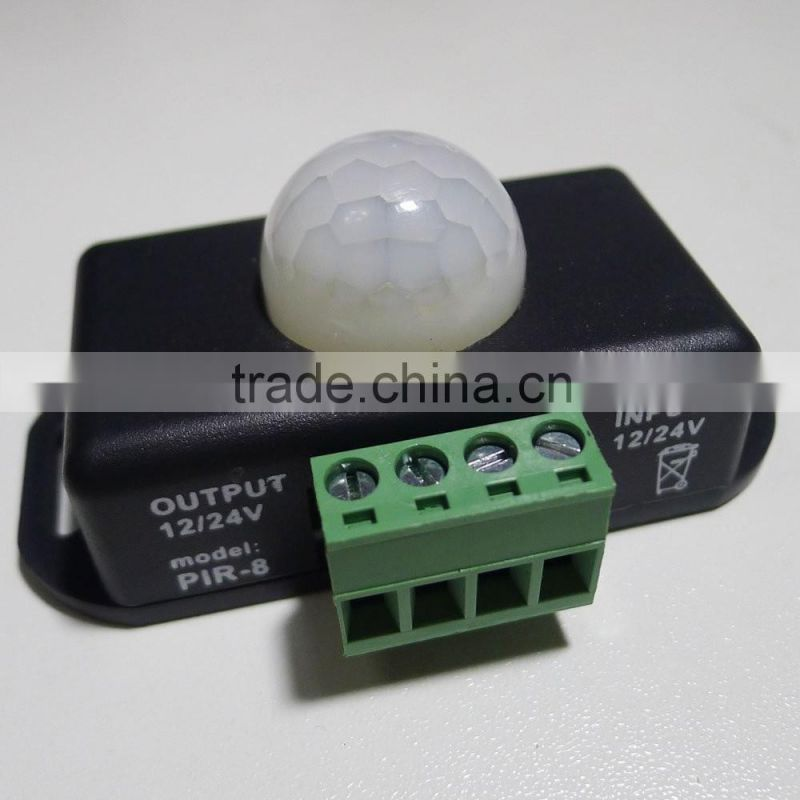 DC12V 24V PIR Sensor Switch LED Dimmer Motion Cotroller for 5050 3528 5630 LED Strip Lights