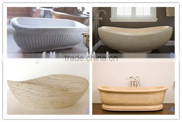 beige solid marble sculpture bathtub for sale