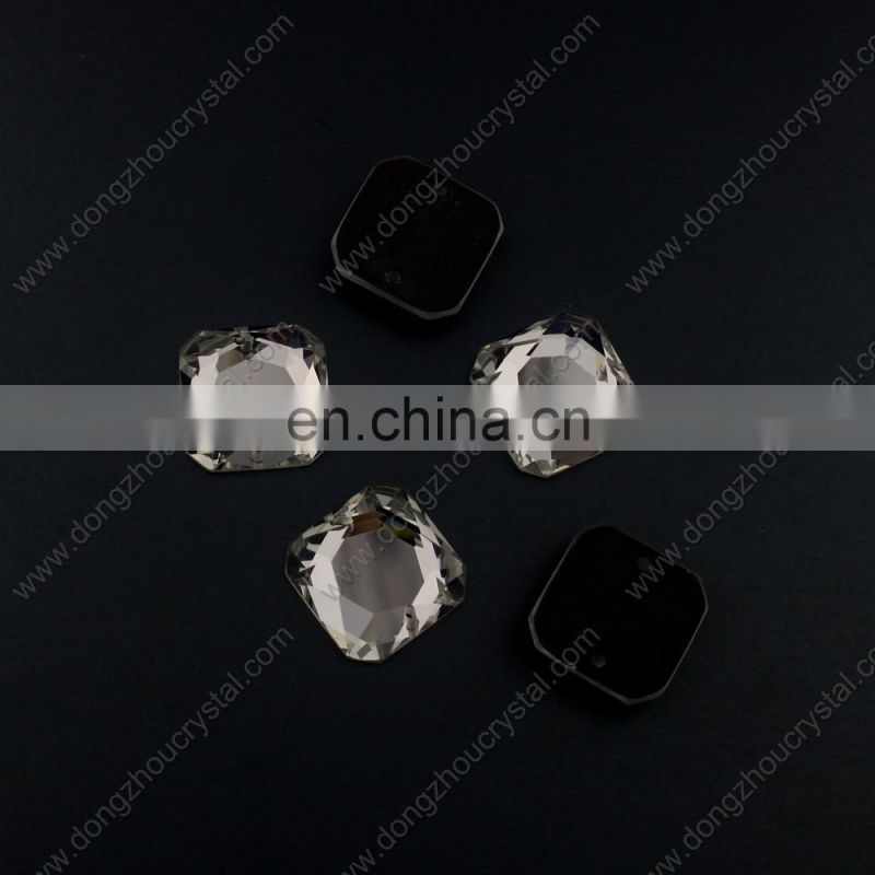 Flat Back Crystal Sew on Rhinestone With Two Holes For Sewing