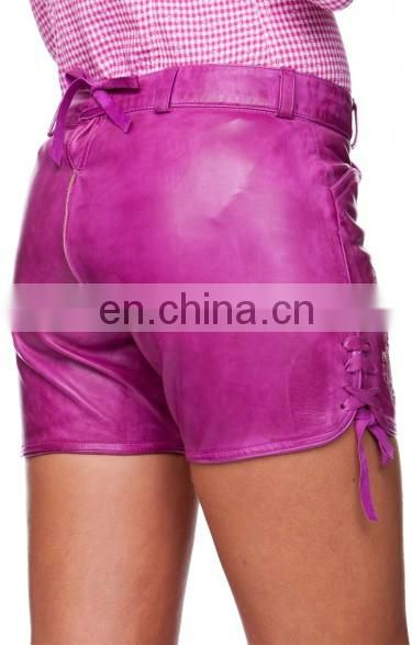 German leather shorts Oktoberfest leathershorts wildberry Women Bavarian-Oktoberfest-Trachten-Short-Lederhosen-All-Size